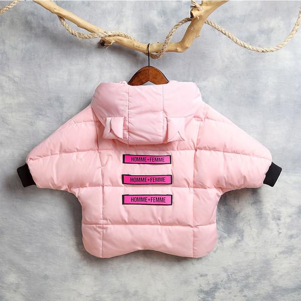 Fille Rembourré Acheter Manches Grossiste Survêtement Mode Lettre Chauve Unique De Chaud Coton Veste Souris Épais Enfants Hiver Manteaux Vêtements EH2ID9