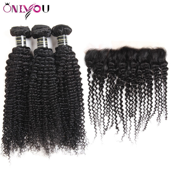 Kinky Curly Bundles mit Frontal