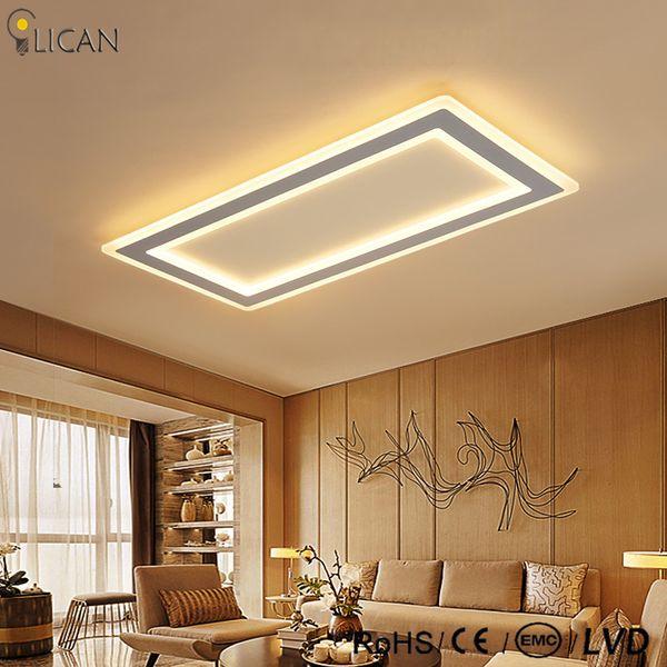 Großhandel LICAN Moderne LED Deckenleuchten Wohnzimmer Schlafzimmer Abajur  Luminarias Glanz De Plafond 110 V 220 V Rechteck Deckenleuchte Dimmen Von  ...
