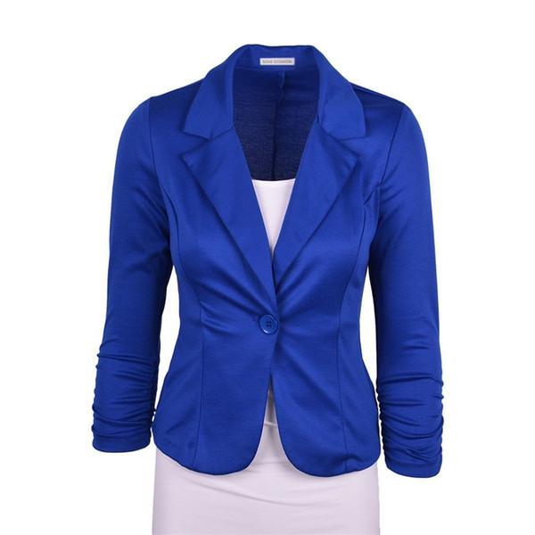 Chaqueta de las mujeres del otoño básico 2016 más el tamaño de la capa del cortocircuito Outwear Tops elegante caramelo Marca Color de la camisa ropa Casaco Femenino Femenino
