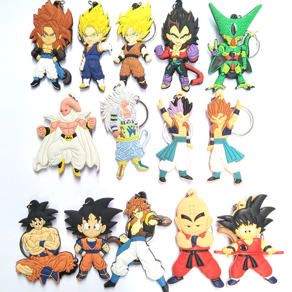 1 pcs New  Monkey Keychain Son Goku  Silicone PVC Keychain Action Figure Pendant Keyring Collection Toy ZKDBF