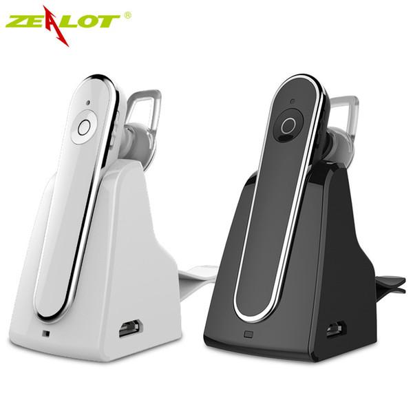 Zealot E5 Wireless Bluetooth Headset Freisprecheinrichtung Kopfhörer mit Mikrofon für MP3-Musik spielen Auto Hands Free Car Kit mit Dock