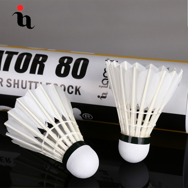 IANONI Badminton Ball A80 New 12 Set Natural Goose Feather 1 level Training Ball High Quality Durable Sport Shuttlecocks Package