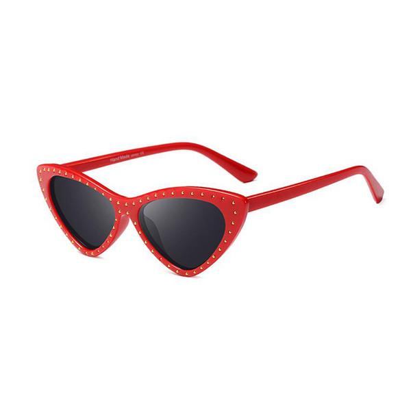 Femme Rouge Red Taille unique Lunette de soleil No Name Ltd