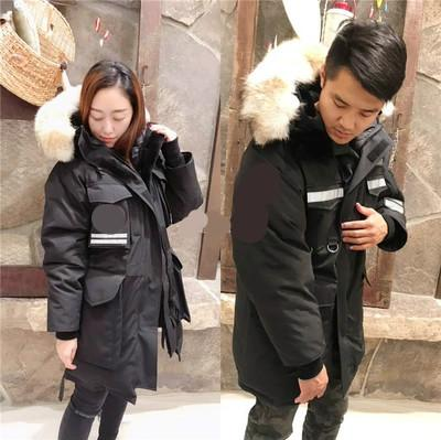 Men Parkas WINTER CANADA SNOW MANTRA-2 GOOSE Down & Parkas WITH HOOD/Snowdome jacket Brand Real Raccoon Collar White Duck Outerwear & Coats