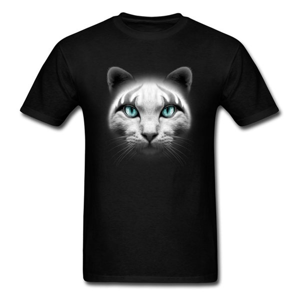 Design Rocker Cat Round Collar T Shirts Summer / Autumn Tops & Tees Short Sleeve For Men On Sale 100% Cotton Casual T Shirts