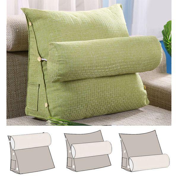 Rückenlehne Kissen.Großhandel Baumwolle Leinen Dreieckige Rückenlehne Kissen Taille Kissen Für Sofa Stereo Kissen Für Waschbar Bett Rest Kissen Zurück Starke
