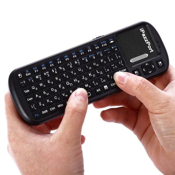 iPazzPort Russische Version 2.4G Wireless Mini Tastatur Super Empfindlichkeit Multi-Touch Tastatur für PC Hohe Qualität und Heißer Verkauf