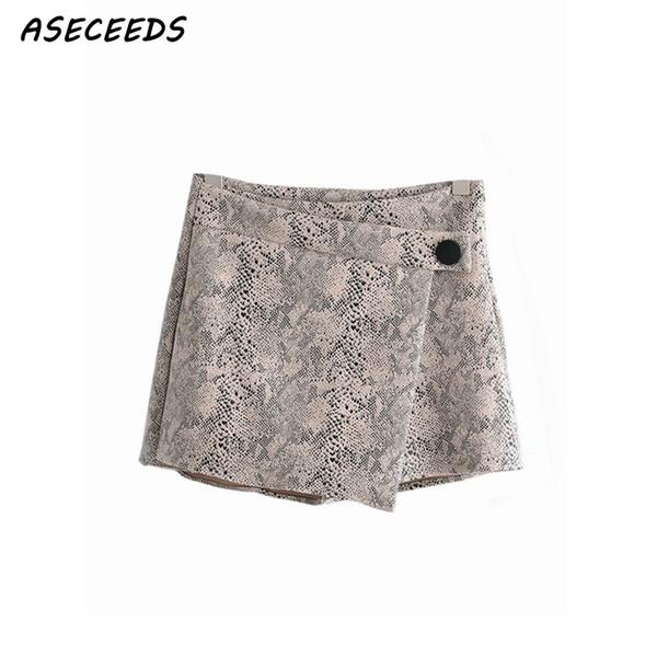 Summer high waist shorts women leopard snake print korean short shorts casual ladies sexy skirt