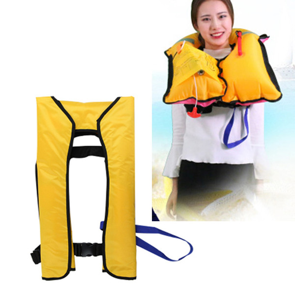 Life Vest Inflatable Beach Jacket Kayak Swimwear boat accessories marine Fishing Survival Surfing Boia Swimsuit For Adult