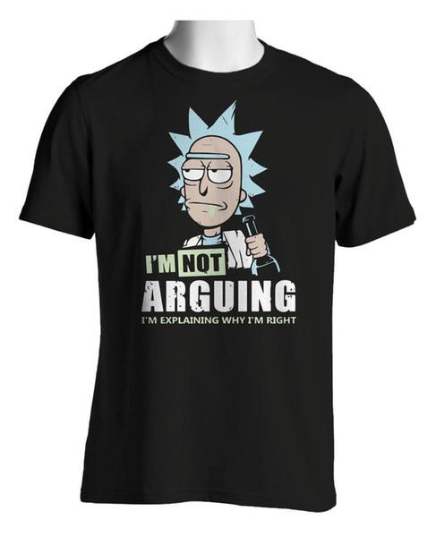Rick Morty Camiseta No estoy discutiendo Camisetas de comedia para hombre Hombre 2018 Marca de moda Camiseta O-cuello 100% algodón