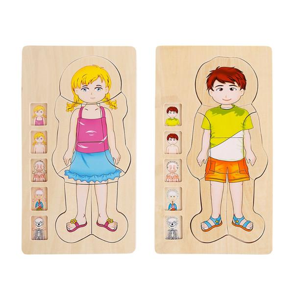 Blocos de Quebra-Cabeças para Crianças de Alta Qualidade Bloco de Educação Infantil das Crianças Produto Multilayer Quebra-cabeça Brinquedos De Madeira Do Bebê