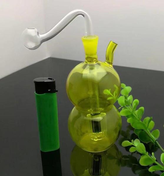 Il colore del bicchiere d'acqua Bottiglia da fiuto Zucca, Bong all'ingrosso Bruciatore a petrolio Tubi d'acqua Tubo di vetro Olio Rigs Fumo Spedizione gratuita DFS