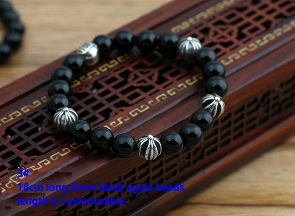 3# 18cm 8mm beads bracelet