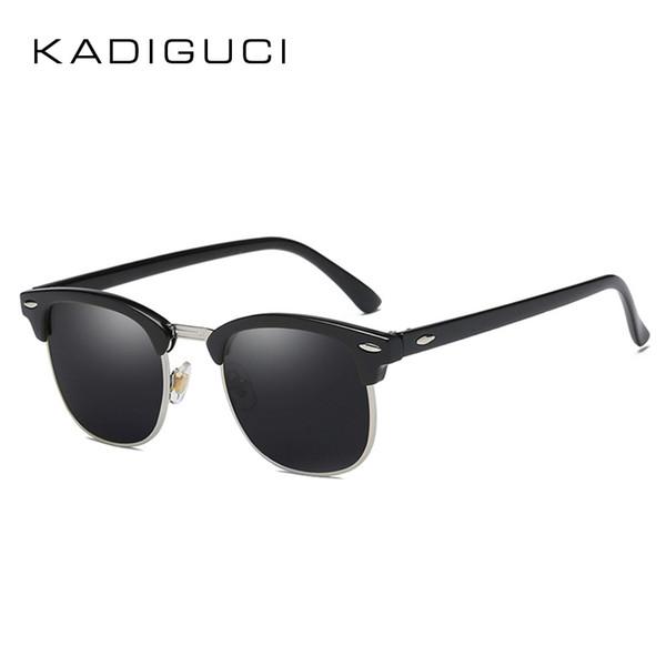 Kadiguci retro do vintage new praça polarizada homens pequenos óculos de sol  das mulheres designer de 1a91121584