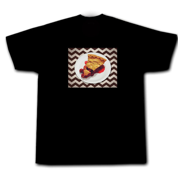 Twin Peaks Cherry Pie Coffee Double R Agent Cooper Audrey Horne Laura Palmer Short Sleeves Cotton T-Shirt Cartoon Character
