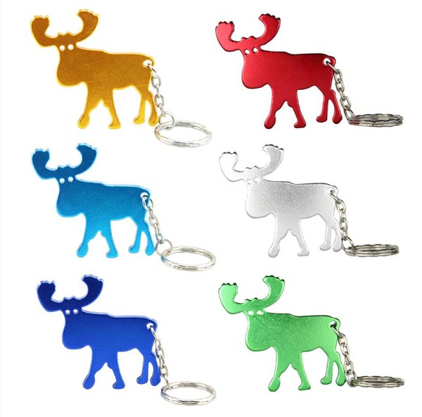 200pcs Beer Bottle Opener KeyChains Aluminum Alloy Can Open Tools Promotion Christmas Gift-Free Shipping