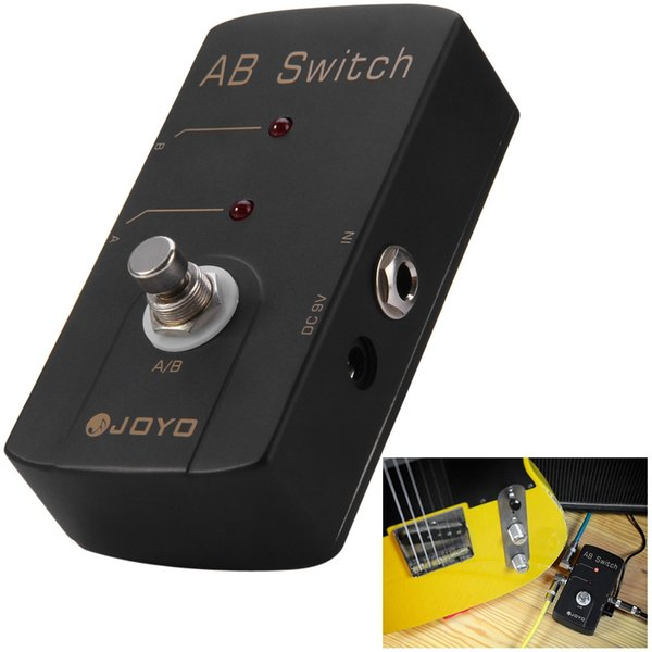 JOYO True Bypass Design 9V A / B Switch Guitar Effect Pedal guitar pedal connector and MOOER knob Switch Effect Route Your Signal To Two