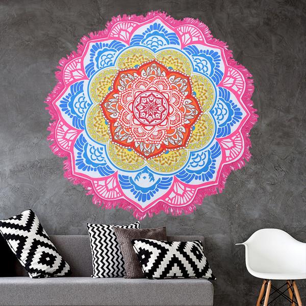 New Wall Decor Mandala Tapestry Round Roundie Appeso a parete Telo da mare Tiro Yoga Tappeto rotondo Arazzo