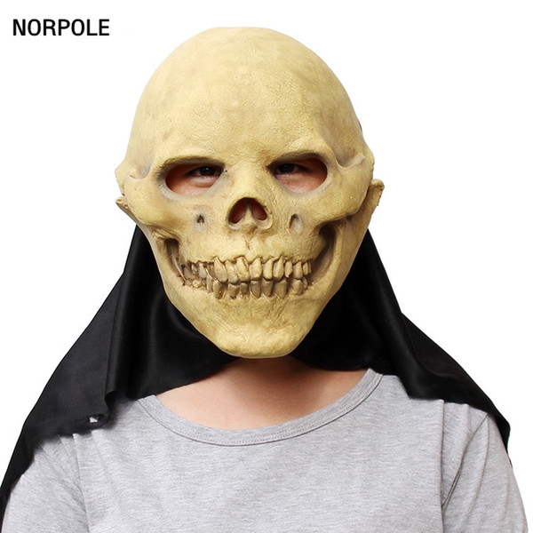 Devil Skull Latex Masks Halloween Cosplay Porps Scary Ghost Rubber Full Face Party Mask