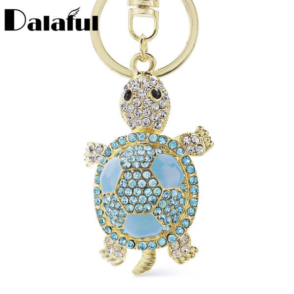 Portachiavi con portachiavi di cristallo bella moda tartaruga per portachiavi auto accessori portachiavi regalo K012