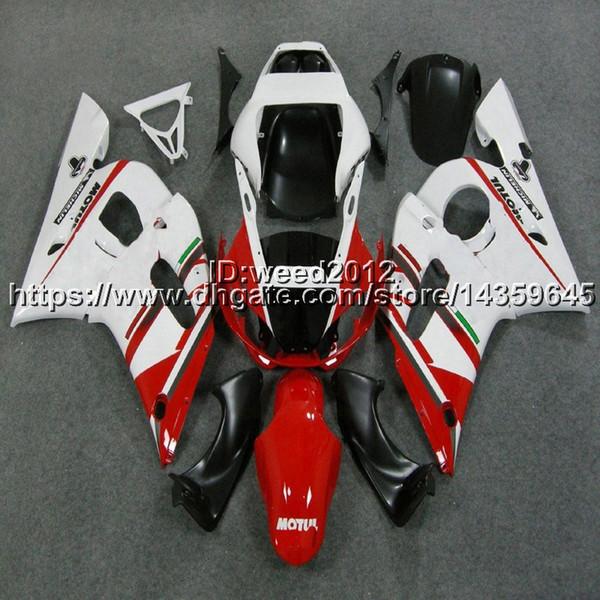 23colors + 5Gifts kit carrosserie carénage ABS moto moto rouge blanc noir pour Yamaha YZF R6 1998-2002 YZF-R6