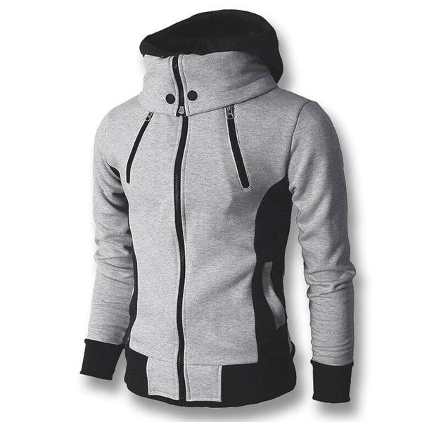 2018 Men Hoodies Sweatshirts Coats Hooded Jackets Men's Casual Fashion Slim Fit Hoodies Zipper Cloak Sudaderas Hombre Sportswear