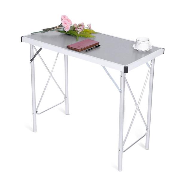 Aluminiumlegierungs-faltender Campingtisch-Laptop-Bett-Schreibtisch-justierbare Tabellen BBQ-tragbarer Regen-Beweis Laptop-Schreibtisch für Picknick / Arbeit NB