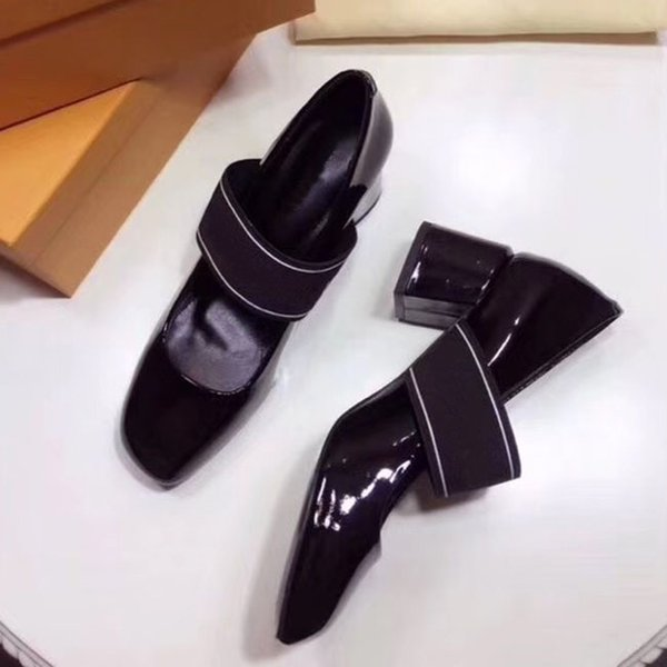 European and American luxury brands ladies lacquered leather shoes high-quality fashion brand designer ladies cowhide shoes original box
