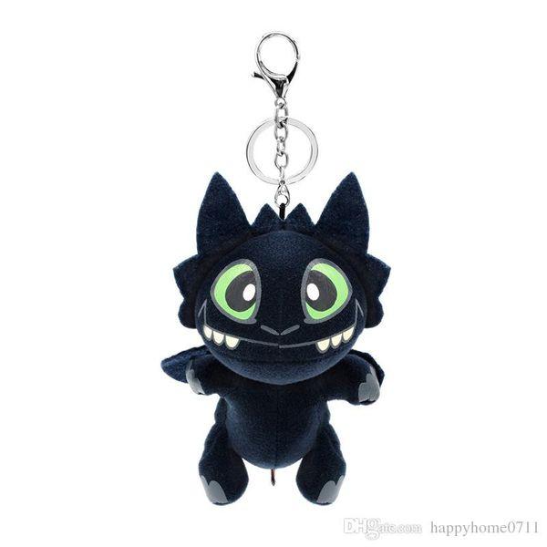 20cm Keychain pendant Night Fury Plush Toy How To Train Your Dragon 2 Toothless Dragon Stuffed Animal Dolls