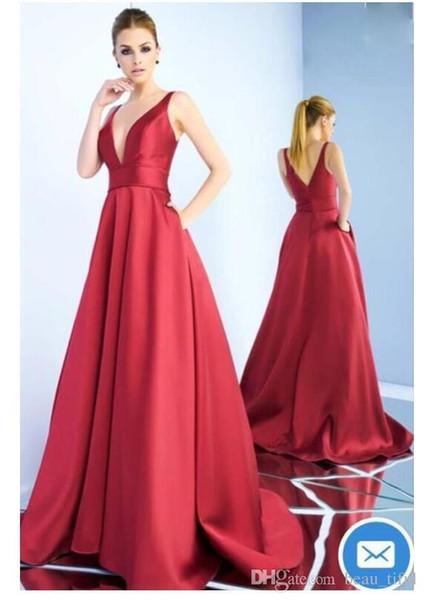 Бесплатная доставка линия выпускного вечера платья 2019 Новые поступления vestidos де noiva длинные вечерние платья V шеи с двумя ремнями