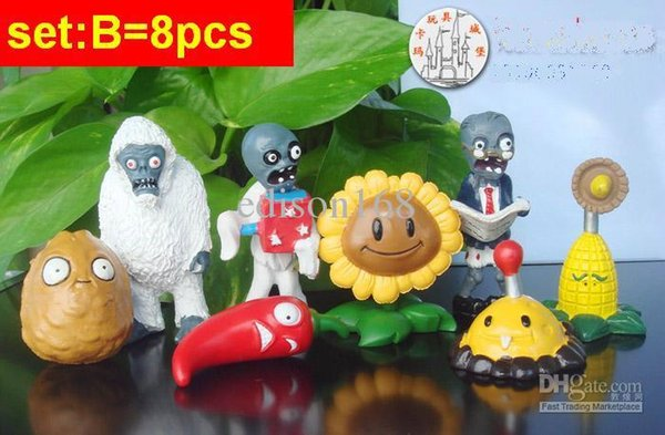 New complete Collection all designs PVC Plants vs Zombies action Figure children kid gift toy 52pcs can be choose