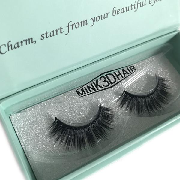 Mangodot NEW 1 Pair natural long mink eyelashes 1 box 3d false eyelashes mink 3d lashes volume soft lashes eyelash extension