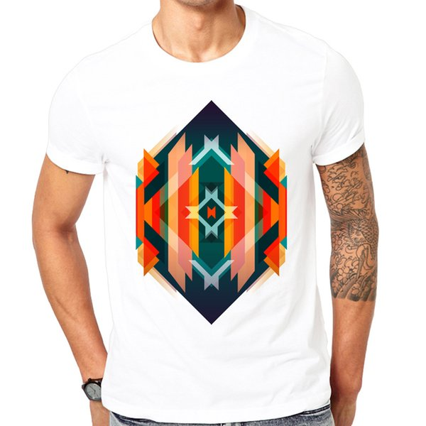2018 New Arrivals Summer Men T-shirt Comfortable Breathable White T Shirt Male Fashion T-shirt Diamond In The Rough Pattern