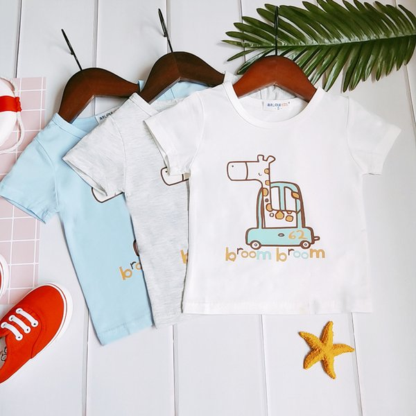 New Pattern Baby Toddler Zebra Short Sleeve Pure Cotton Cartoon T The T-shirt. Men And Women Baby Personal Tide Child