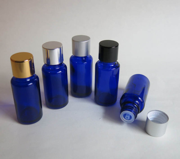 100pcs wholesale Glass 15ml Small blue Cosmetic Essential oil Bottle ,Mini Empty Olive Essential Oil Sample Packaging Bottles