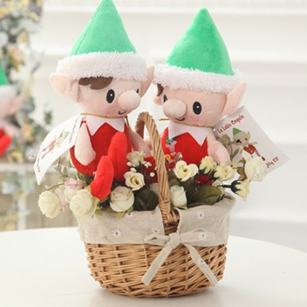 Elves Baby Plush Toy Christmas Elf Plush Dolls Girl Figure Christmas Doll Plush toys Xmas dolls on the shelf For Kids Christmas Decors