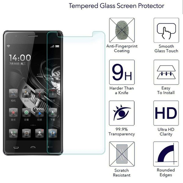 HomTom HT5 9H Screen Protector Tempered Glass For iPhone 7/7 Plus SE Samsung S7 A5 J7 J3 J5 Huawei Honor 9 6X 7X OnePlus 3 4 5 6