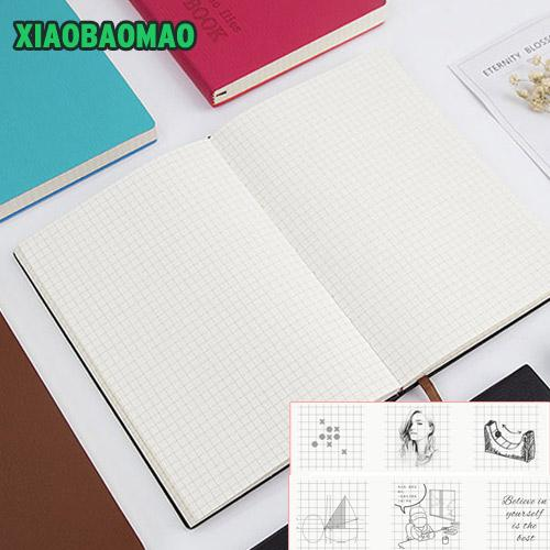 5mm Small Square Grid Notepad Commercial NotDiary Plaid Books 6 Color Diary Graffiti Painting Gifts PU Notebook