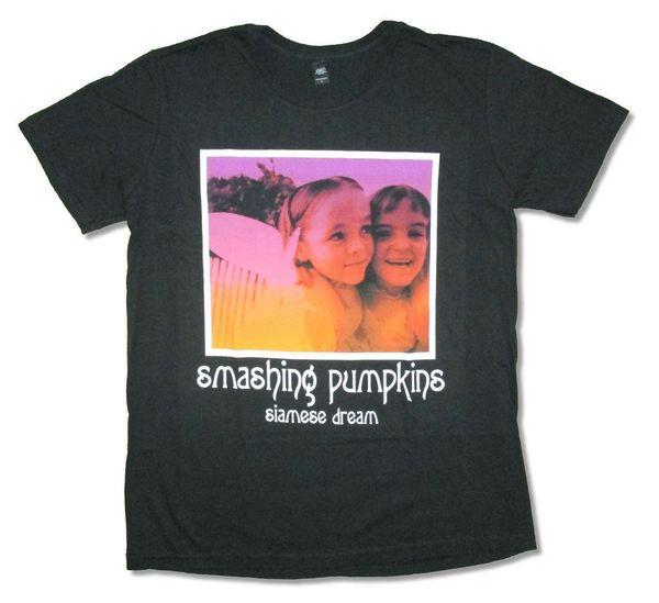 Smashing Pumpkins Siamese Dream Album Image Black T Shirt New Official Casual T-shirt Male Short Sleeve Pattern