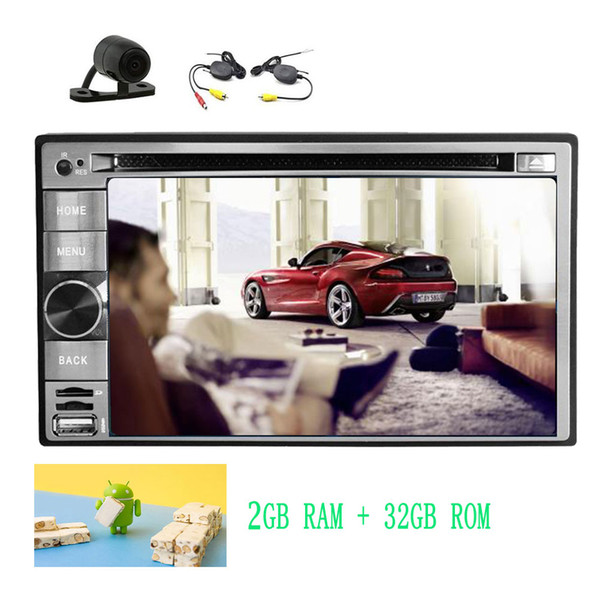 Excellent Android 7.1 Nougat Dashboard Car DVD Player Stereo Entertainment System Wifi Bluetooth Mirrorlink OBD2 FM/AM Radio Car Deck Dual