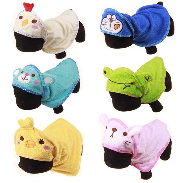 Cartoon Designer Puppy Dog Towel Cute Animal Dog Pajamas Bathrobe Absorbent Shower Bath Towel Mat Blanket Goods For Dogs