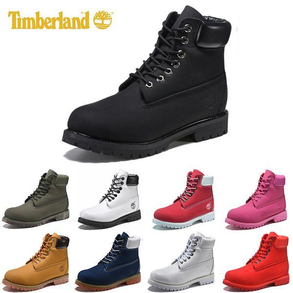 Timberland mens women winter boots chestnut black white red blue Grey womens men designer boot size 5.5-11 fast shipping