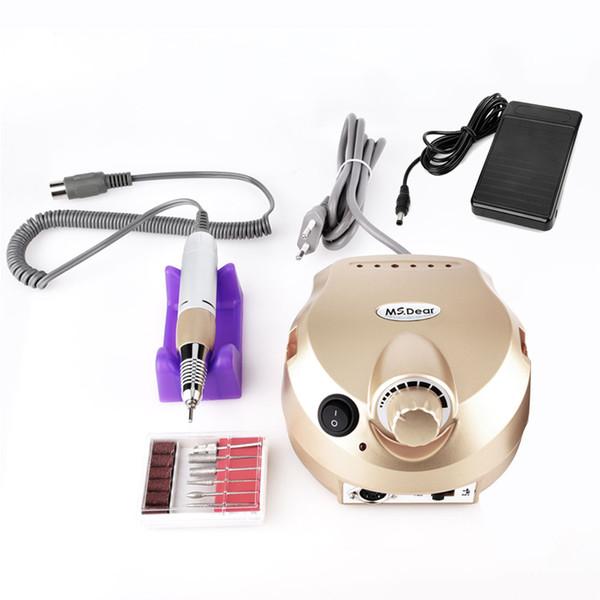 RPM Art 35000 Nail Or électrique professionnel Drill Dossier manucure pédicure Équipement machine Kit Outils Nail Art Nail Gel