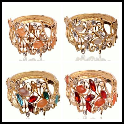 4 Color New woman 14k Gold Filled Austrian Crystal White Sapphire Bracelet Bangl