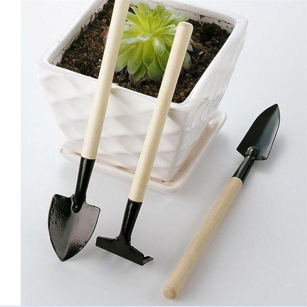 2019 Children Mini Compact Plant Garden Hand Wood Tool Kit Succulent Plant Tool Spade Shovel Rake For Gardener From Luckies Price Dhgate Com