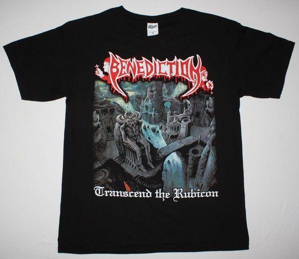 BENEDICTION TRANSCEND LE RUBICON DISMEMBER DEATH METAL NOUVEAU T-SHIRT NOIRMee-shirt à manches courtes en coton Cotton