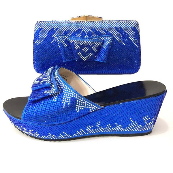 a759bd9d25b854 Royal Blue African Matching Shoes and Bags Italian In Women Italian Shoes  and Bags for Women