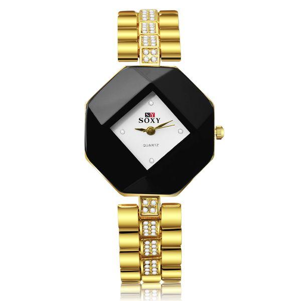 New Luxury Designer Women Diamonds rhombus dial watches fashion gold quartz Stainless Steel Bracelet wristwatches Dress Famous Brand watch