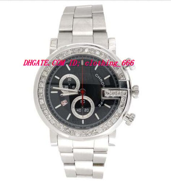 Luxury Wristwatch Mens Custom Diamond Ya101309 G-Watch Black Dial Chronograph 3.50 Ctw. 44mm Quartz Mens Watches Men's Watch Top Quality